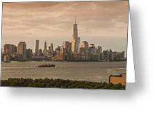 Manhattan Sunrise Greeting Card