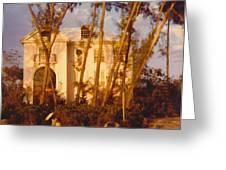 Mansion Landscape Greeting Card