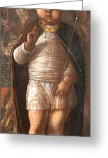 Mantegna's The Infant Savior Greeting Card