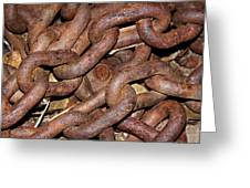 Many Rusty Links Greeting Card