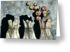 Marble Bags Greeting Card