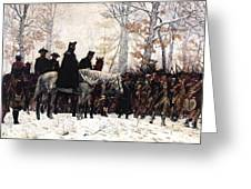 March To Valley Forge Greeting Card