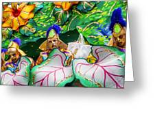 Mardi Gras Float Greeting Card