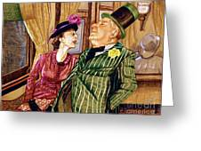 Margaret And W.c. Fields Greeting Card
