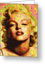Marilyn Monroe - Maple Leaves Greeting Card