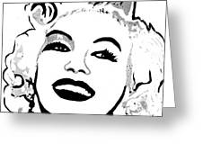 Marilyn What A Beautiful Girl Greeting Card