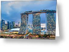 Marina  Bay Sands - Singapore Greeting Card