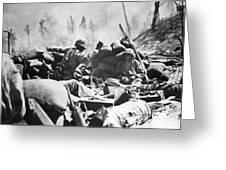 Marines Fight At Tarawa Greeting Card