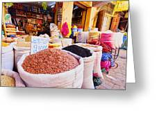 Market In Fes In Morocco Greeting Card