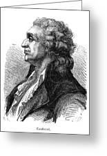 Marquis De Condorcet (1743-1794) Greeting Card