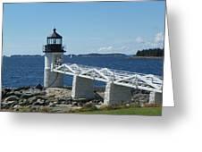 Marshall Point Lighthouse Greeting Card by Joseph Rennie