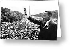 Martin Luther King The Great March On Washington Lincoln Memorial August 28 1963-2014 Greeting Card