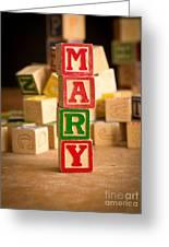 Mary - Alphabet Blocks Greeting Card