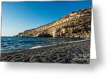 Matala Beach Greeting Card