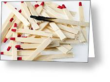 Matches Greeting Card