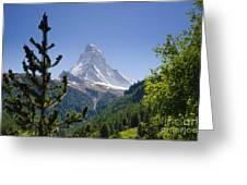 Matterhorn In Zermatt Greeting Card