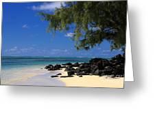 Mauritius Blue Sea Greeting Card