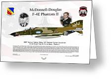 Mcdonnell Douglas F-4e Phantom II Greeting Card