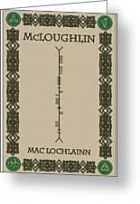 Mcloughlin Written In Ogham Greeting Card