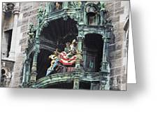 Mechanical Clock In Munich Germany Greeting Card