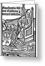 Medical Teaching, 1487 Greeting Card
