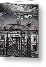 Medieval Cage Of Shame Greeting Card