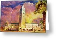 Medina Of Marakkesh Greeting Card by Catf