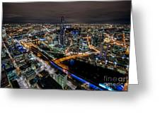 Melbourne At Night Vi Greeting Card