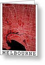 Melbourne Street Map - Melbourne Australia Road Map Art On Color Greeting Card