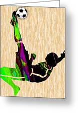 Womans Soccer Greeting Card