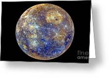Mercury Hemisphere, Messenger Image Greeting Card