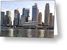Merlion Park In Singapore 3 Greeting Card