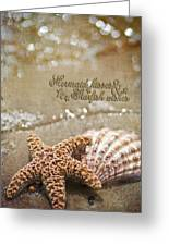 Mermaid Kisses And Starfish Wishes Greeting Card