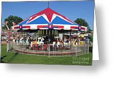 Merry Merry Go Round Greeting Card