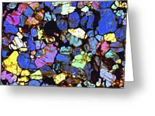 Meteorite Nwa 6435, Light Micrograph Greeting Card