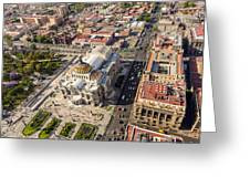 Mexico City Aerial View Greeting Card