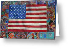 Mi Flag Greeting Card