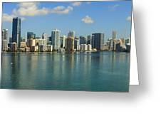 Miami Brickell Skyline Greeting Card