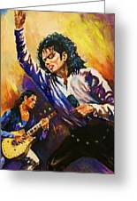 Michael Jackson In Concert Greeting Card