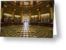 Michigan Capitol Flag Room Greeting Card