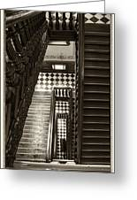 Michigan Capitol Stairwell Greeting Card