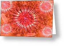 Microscopic View Of Dendrimers Greeting Card