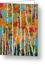 Middle Mountain Aspens Greeting Card