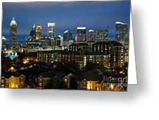 Midtown Atlanta Skyline At Dusk Greeting Card
