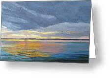 Mike's Sunset II Greeting Card