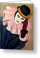 Mime With Thoughts Greeting Card