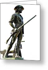 Minute Man Statue Concord Ma Greeting Card
