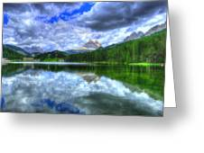 Mirror In The Sky Greeting Card