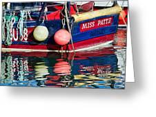 Miss Pattie At Lyme Regis Harbour  Greeting Card