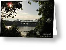 Missouri River Sunrise  Greeting Card